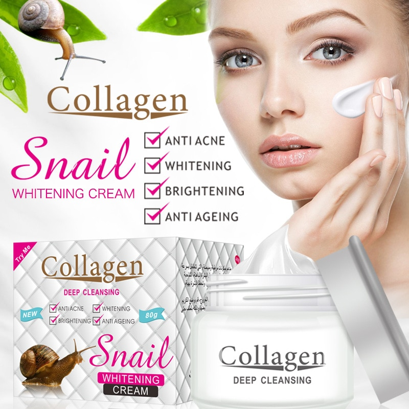 Snail Fades Fine Lines Face Cream Collagen Anti-Wrinkle Whitening Facial Cream Hyaluronic Acid Moisturizing Anti-aging Skin Care