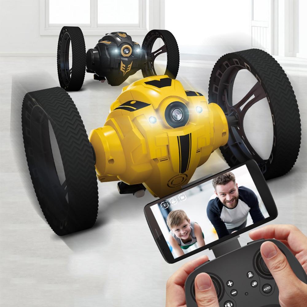 C6 RC coche rebote coche de Control remoto juguetes RC Robot 70cm de alto salto coche de Radio Control coches máquina LED noche juguetes niños regalos