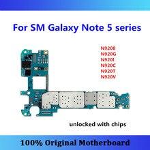 Odblokowany dla Samsung Galaxy Note 5 N920 płyta główna 32gb N9208 N920G/N920I/N920C/N920T/N920V N9200 N920P N920A Android OS