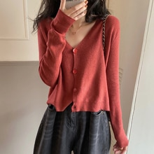 Small Knitted Cardigan for Women Spring and Autumn Thin 2021 New Internet Hot Retro Gentle Style Sho
