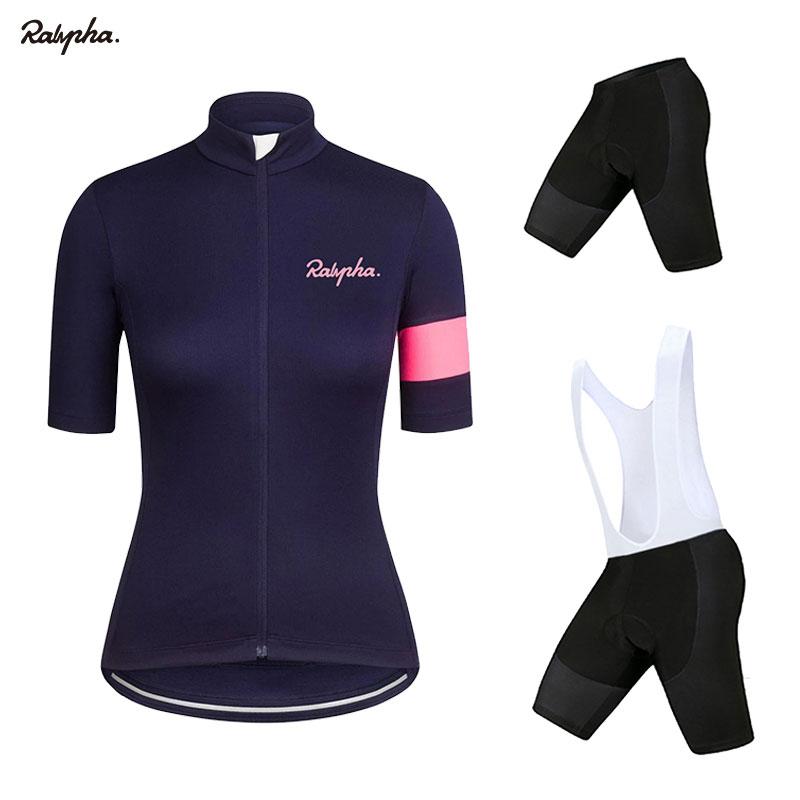 2020 ralvpha Women Cycling Jersey Set Pro Cycling Suits MTB Clothing Summer Bike Uniform Cycling Sets jersey ciclismo mujer NW