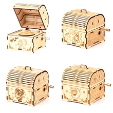 3D Wooden Three-dimensional Puzzle Children's Educational Wooden Toys Assembled Classical Music Box