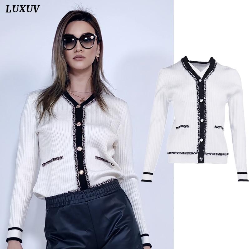 Women's Sweaters Knitted Coat Elastic Cardigan Crop Tops Sweatshirt LIght Wool Blend Jersey Shirt Sw