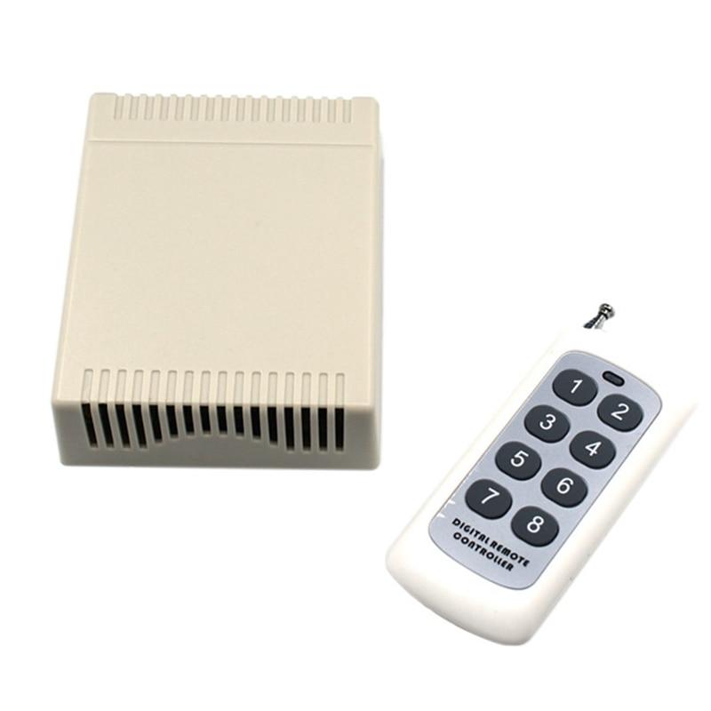 315MHz العالمي اللاسلكية مفتاح مرحل للتحكم عن بعد DC12V 8CH التتابع وحدة الاستقبال تردد الراديو التبديل باب المرآب