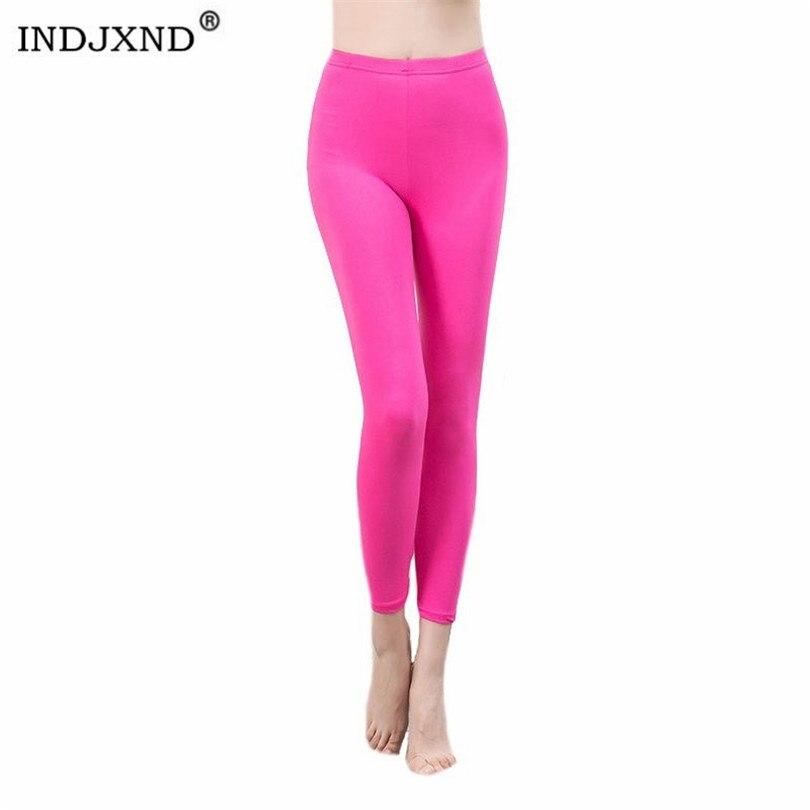 INDJXND-mallas elásticas de neón para mujer, Leggings blancos de cintura alta de...