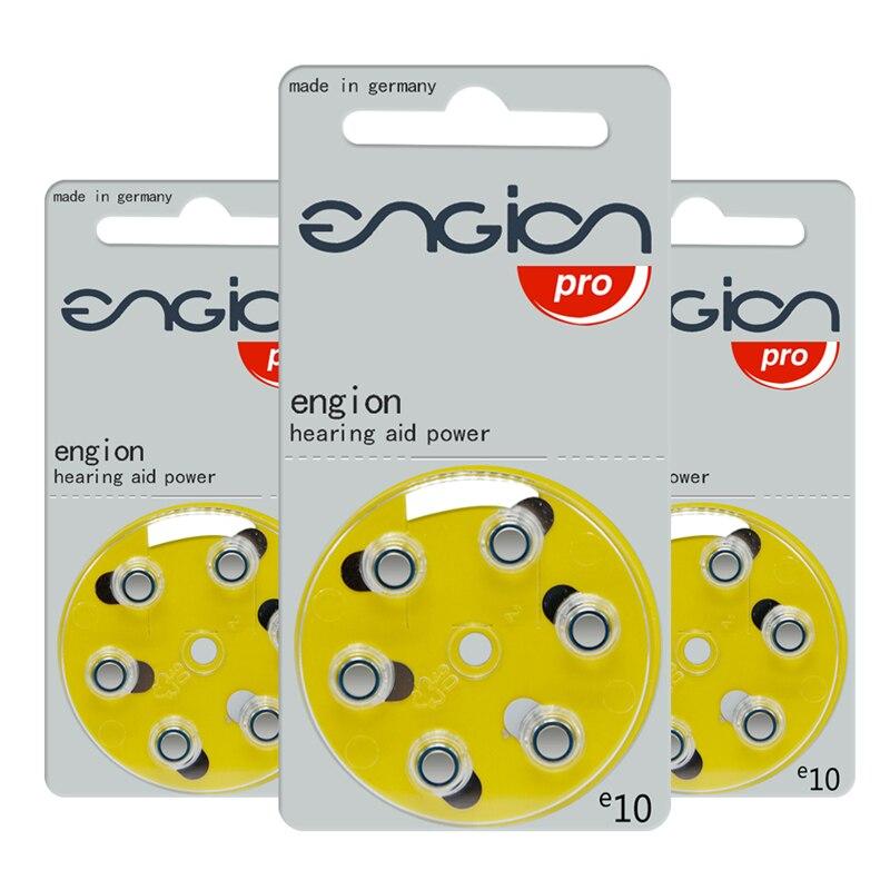 10 tarjetas (60 uds.) batería Original de Zinc Air de 1,4 V para audífonos BTE. 10/10A/A10/E10/PR70 baterías de audífonos de alto rendimiento