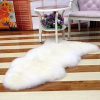 4060 6090cm faux sheepskin carpet super soft fur wool carpet warm plush floor carpets washable living room bedroom carpet