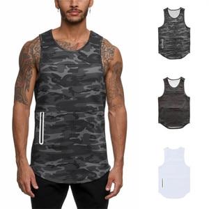 Men Bodybuilding Tank Tops Gym Workout Fitness camouflage Sleeveless shirt Running Stringer Singlet Male Summer Casual Vest