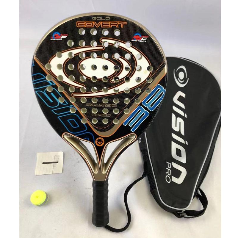Men Padel Tennis Racket Carbon Fiber EVA Face Beach Tennis Padel Beach Racquet Racket Paddle Tennis With Cover  -40
