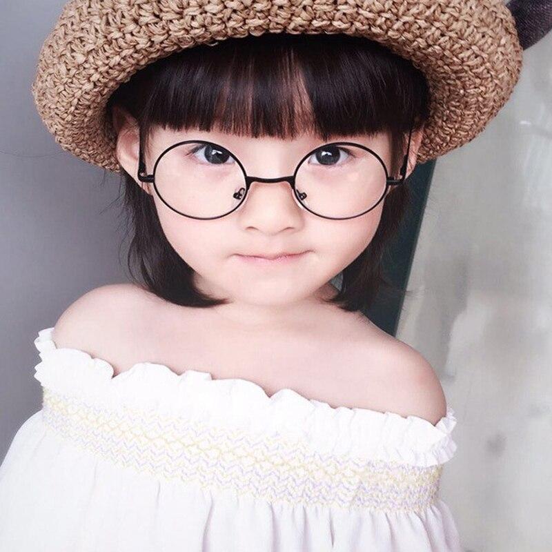cool Retro Black Blue Round Kids Sunglasses Brand little girl/boy Baby Child Glasses goggles oculos UV400 Small face