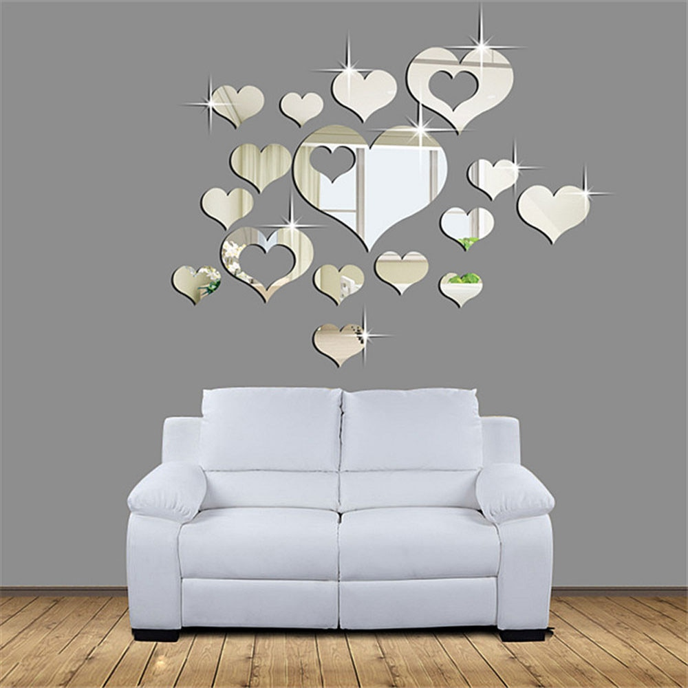 3D Neue Küche Herz Wand Aufkleber für Home Muster Wohnzimmer Wand Aufkleber PVC Abnehmbare Home Decor DIY wand kunst decor 926
