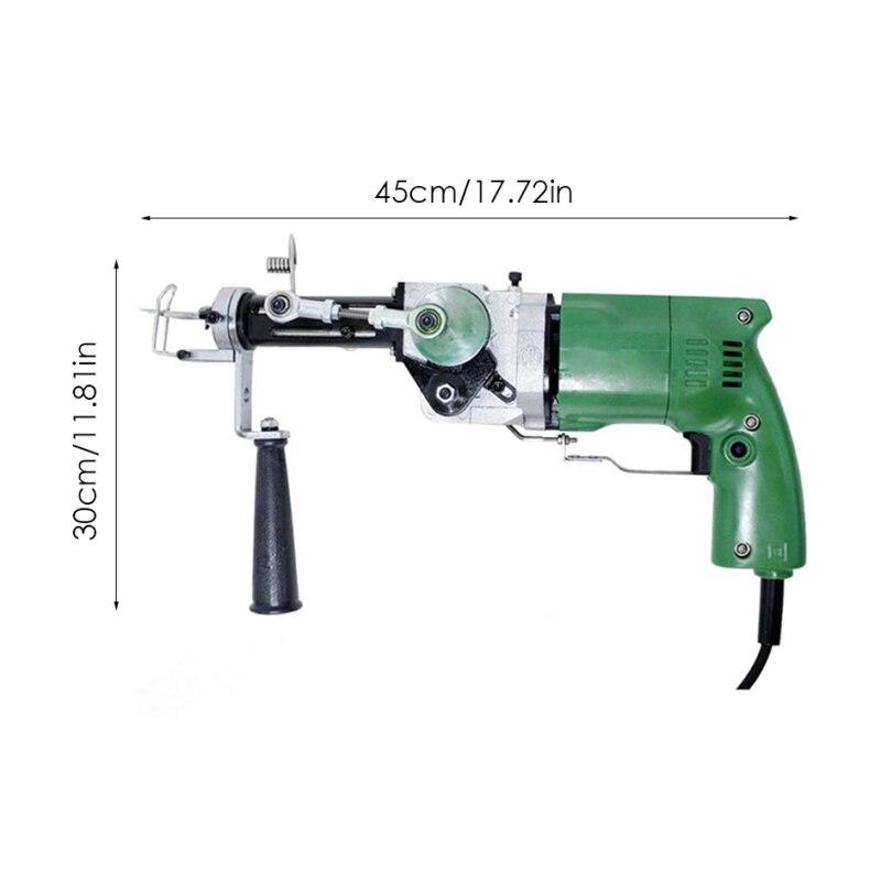 2400RPM Electric Rug Tufting Machine Wall Tapestries Hand Tufting Gun With Cut And Loop 220V Cut Pile And Loop Pile EU Plug enlarge