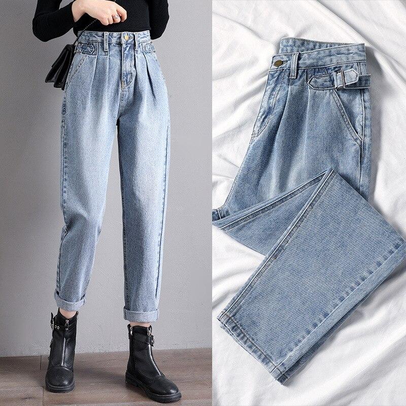 Джинсы с высокой талией женские винтажные модные женские джинсы для женщин рваные джинсы бойфренды джинсы женские джинсы