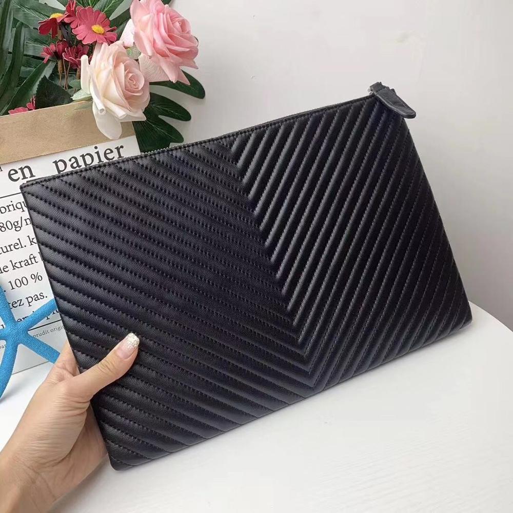حقيبة يد جلدية عالية الجودة ، حقيبة ملفات ، مخلب ، 2019