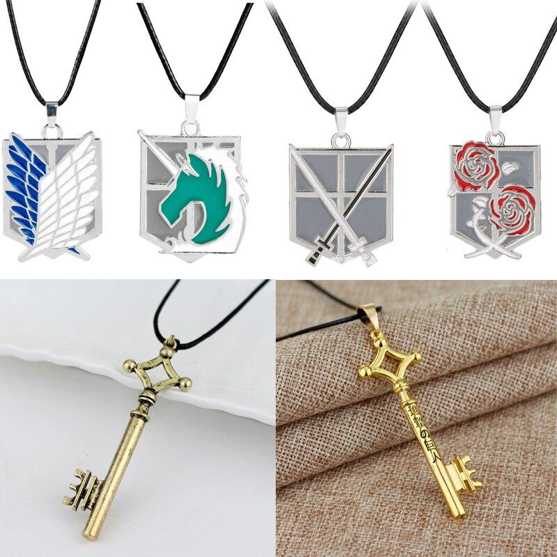 anime-attack-on-titan-collana-eren-key-shingeki-no-kyojin-ciondolo-wings-of-liberty-collana-unisex-in-pelle-con-catena-in-metallo-cosplay