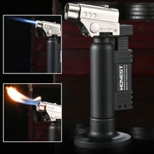 Honest spray gun welding torch direct fire double fire switch lighter safe lock outdoor barbecue sup
