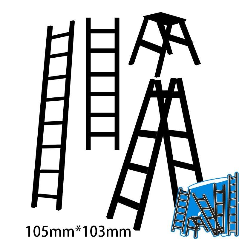 105*103mm échelles nouveau métal matrices de découpe pour décor carte bricolage Scrapbooking pochoir papier Album modèle matrices