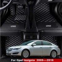 car floor mats for opel insignia 2009 2011 2012 2013 2014 2015 2016 waterproof front rear carpets rugs car mats accessories