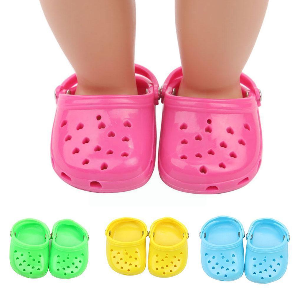 Doll Shoes Sandals Boots For 18 Inch American 43cm Our Generation Accessories Baby Doll Born Girl Toy New N8V1 doll accessories cute pajamas nightgown clothes for 18 inch american girl boy doll our generation