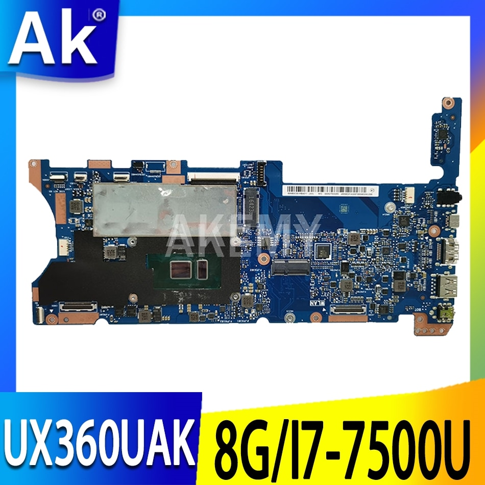 UX360 ل ASUS UX360U UX360UA UX360UAK الكمبيوتر المحمول اللوحة الرئيسية 100% اختبار موافق I7-7500U وحدة المعالجة المركزية 8G/RAM