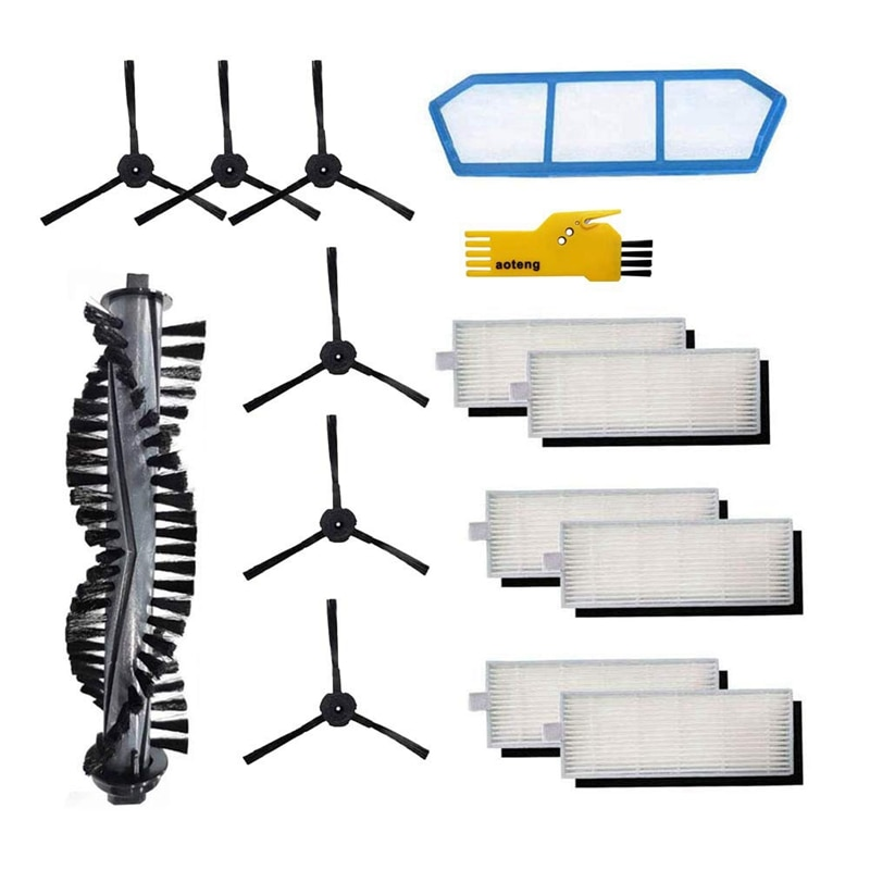 HOT!-Replacement Parts for Ilife A4S Robot Vacuum Cleaner Accessories Kit Pack Of Main Brush, Primary Filter, Side Brush