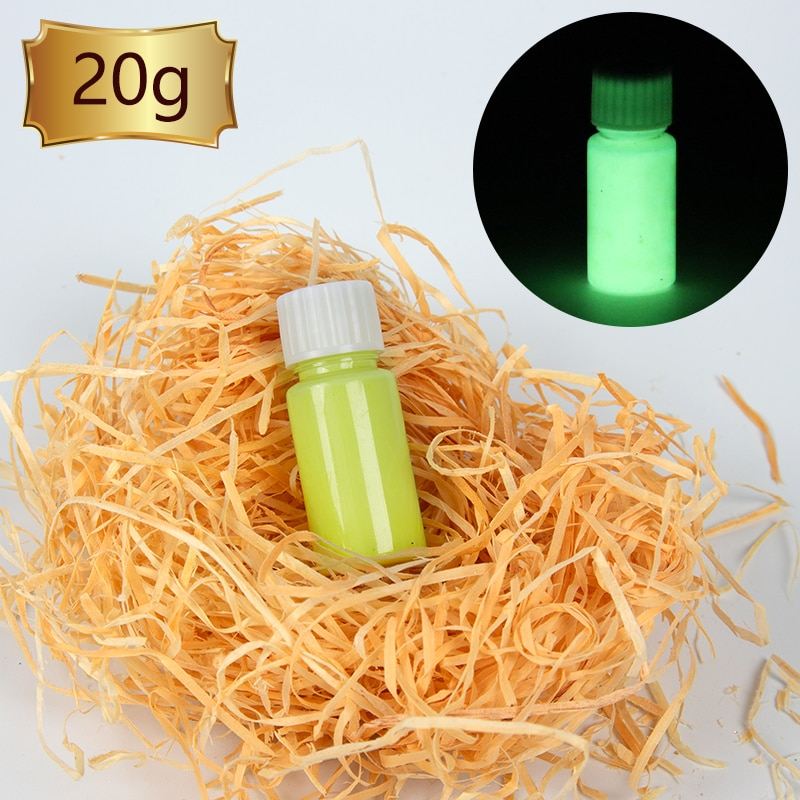 Luminous Paint Glow in the Dark Fluorescent Paint for Party Nail Decorations Art Craft 40g Yellow Phosphor Powder Acrylic Paint недорого