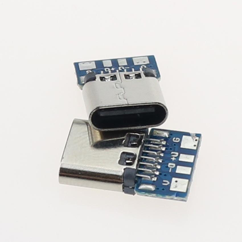 USB 3,1 Тип C Гнездовой разъем Jack Dock 14 Pin гнездо порт розетка через отверстия PCB USB-C USB зарядная док-станция