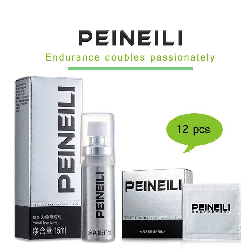 PEINEILI Spray retardante Anti eyaculación precoz prolonga 60 minutos pene agrandamiento pene erección mejora + sexo Wips tejidos húmedos
