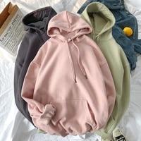 plus size hoodies 2021 women solid jacket casual students korean loose couple hooded sweater women trend hoodies sweatshirt