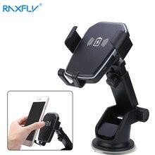 RAXFLY автомобильное беспроводное зарядное устройство для Samsung S20 Huawei P40 приборная панель с креплением на вентиляционное отверстие Автомобильный держатель для телефона в автомобиле 5 Вт/10 Вт быстрое зарядное устройство