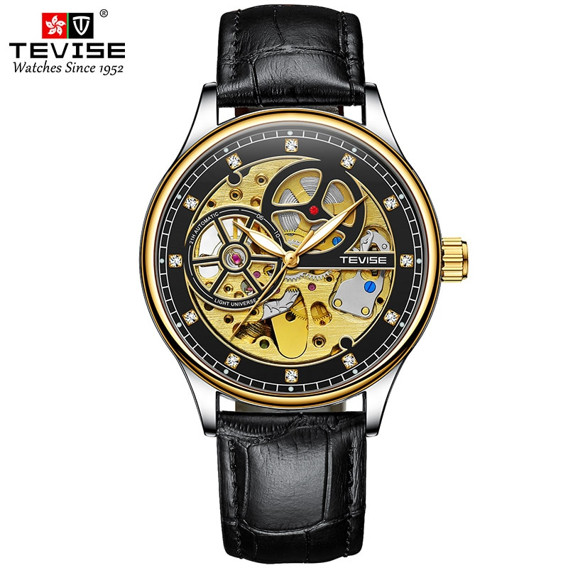 TEVISE Fashion Casual Mens Watches Top Brand Luxury Business Automatic Mechanical Watch Men Wristwat