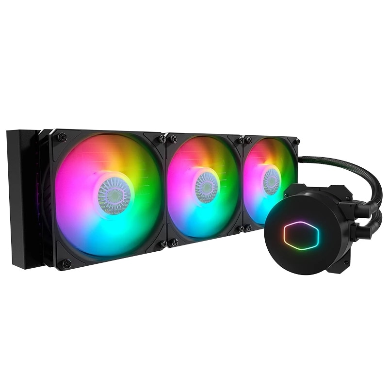 مبرد تبريد سائل سطح المكتب باللون الأبيض B360 من Cooler Master Ice God مقاس 8 ~ 27 dBA 4Pin PWM/3Pin 5 فولت مبرد مشعاع للكمبيوتر