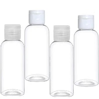 50pcs 10305060100ml empty lotion bottle refillable clear plastic small liquid bulk containers for travel lotion shampoo