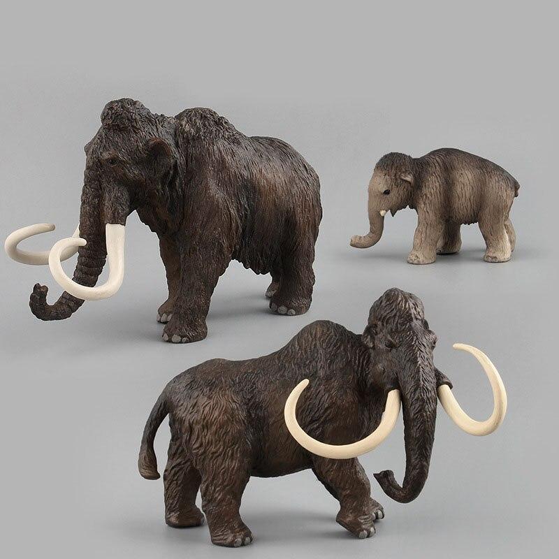 Animal Modelo de Pvc, juguete de Animal de mamut, Modelo de juguete para niños, juguete de simulación, juguete interesante hecho a mano, regalo para niños