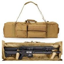 Sac de pistolet militaire sac à dos Double fusil pour scie M249 M16 AR15 Airsoft sac de fusil fusil carabine sac de transport avec bandoulière