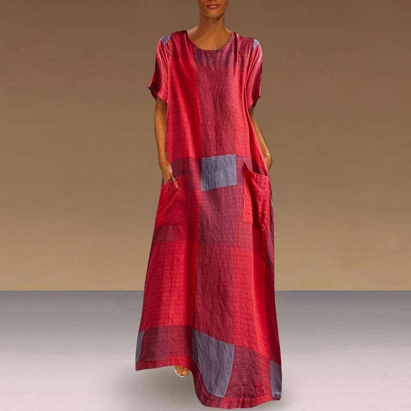 Женское платье в богемном стиле VONDA, повседневное винтажное платье макси в стиле пэчворк, пляжный сарафан большого размера на лето 2020