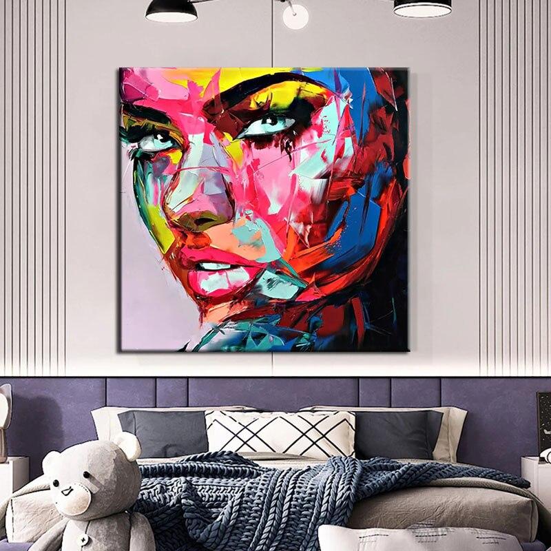 100% رسمت باليد فرانسوا نيلي قماش باليت للرسم سكين الوجه النفط اللوحة صور فنية للجدران لغرفة المعيشة ديكور المنزل