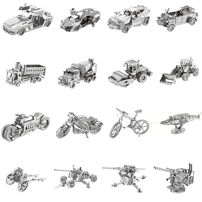 3D Metal Puzzles Model Multi-style DIY Laser Cut Manual Jigsaw Kits For Adults Children Collectional Educational Toys & Hobbies