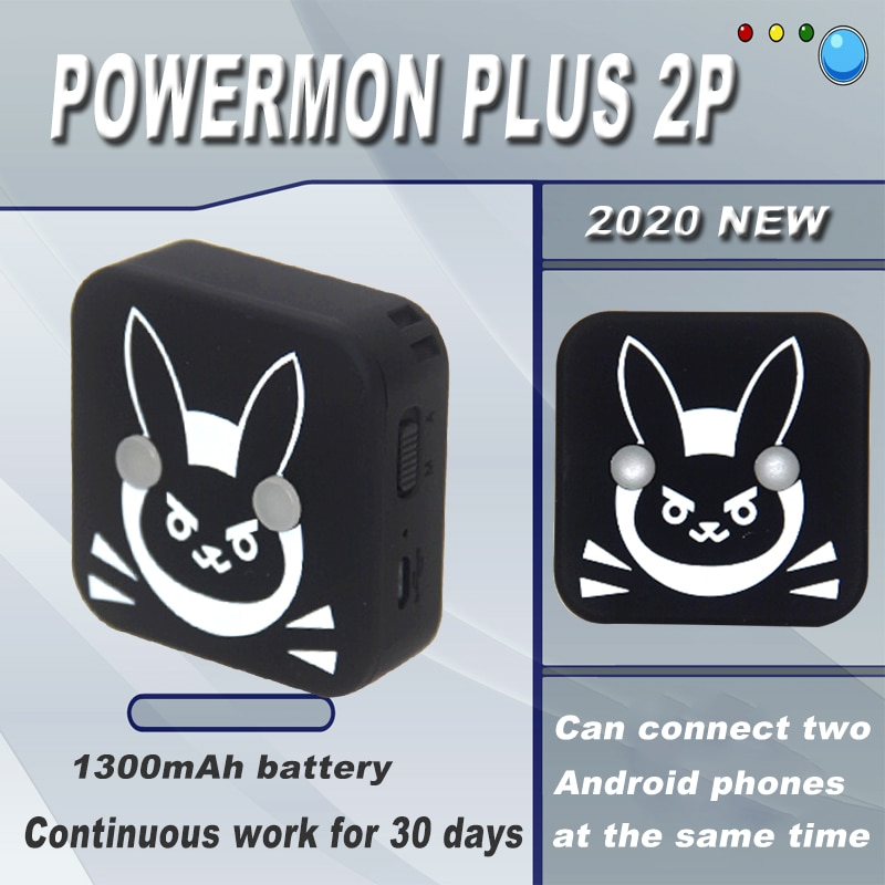 2020 POWERMON 2P pulsera para Pokemon go Plus pulsera dispositivo para IOS para Android Manual/versión de captura automática
