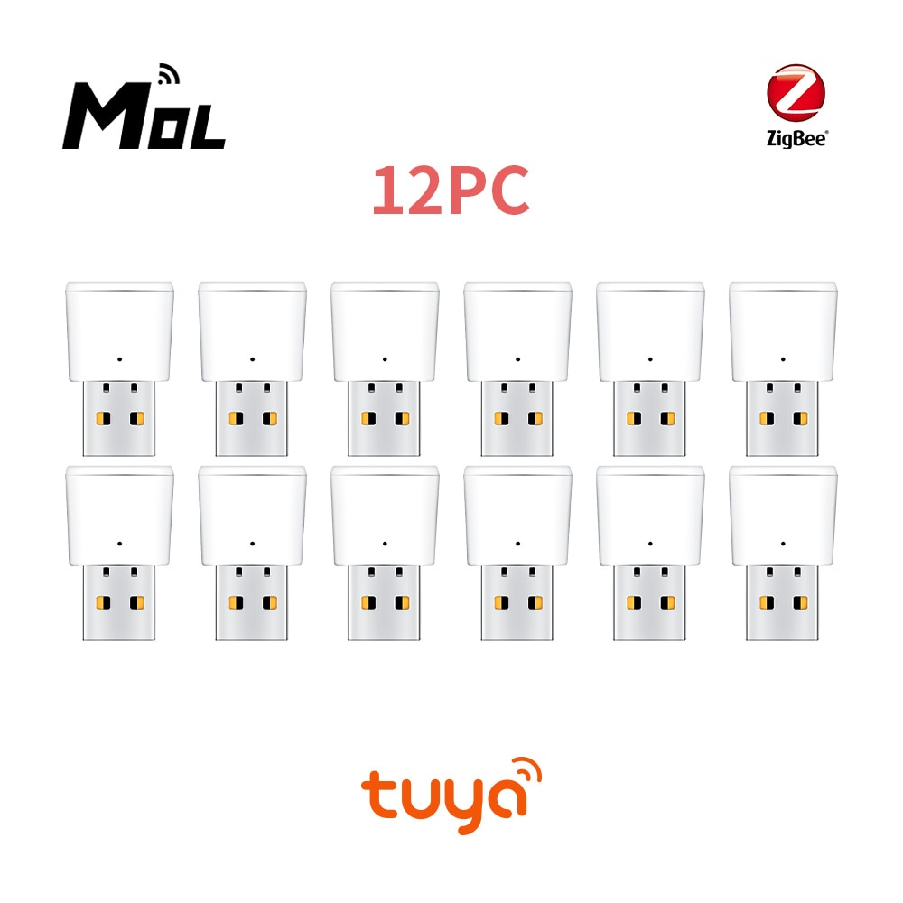Tuya 12 шт. Zigbee Репитер сигнала мобильного телефона USB концентратор Zigbee сигнала расширения 20-возможностью погружения на глубину до 30 м Модуль А...