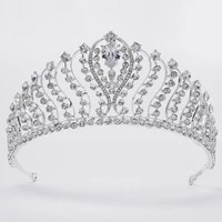 bridal crowns and tiaras wedding accessories silver crystal princess crown bridal headpiece women hair jewelry crowns for women