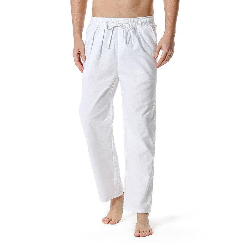 2021 простые мужские брюки из хлопка и льна летние тонкие 2021 мужские льняные брюки повседневные однотонные прямые брюки