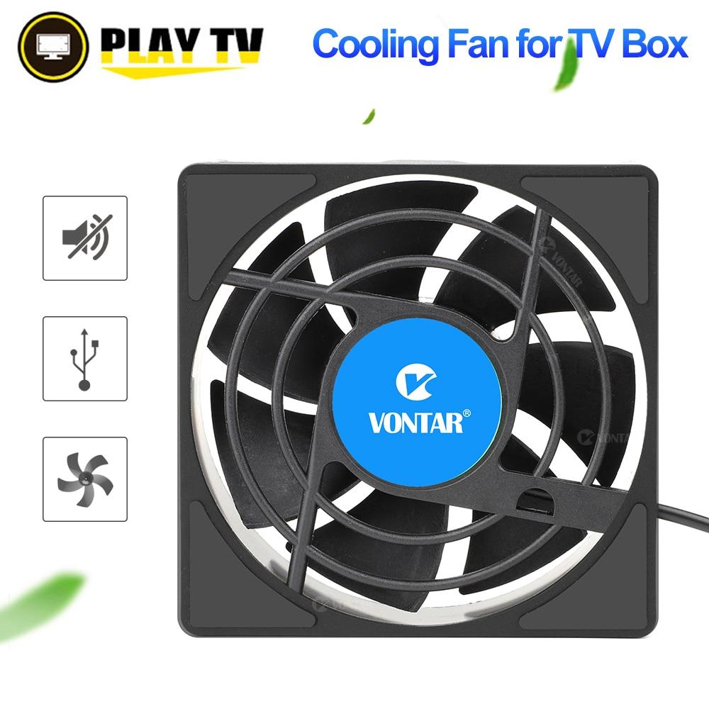 VONTAR C1 Lüfter für Android TV Box H96 Max X3 HK1 TX6 Set Top Box Drahtlose Silent Ruhig Kühler USB Power Heizkörper Mini Fan
