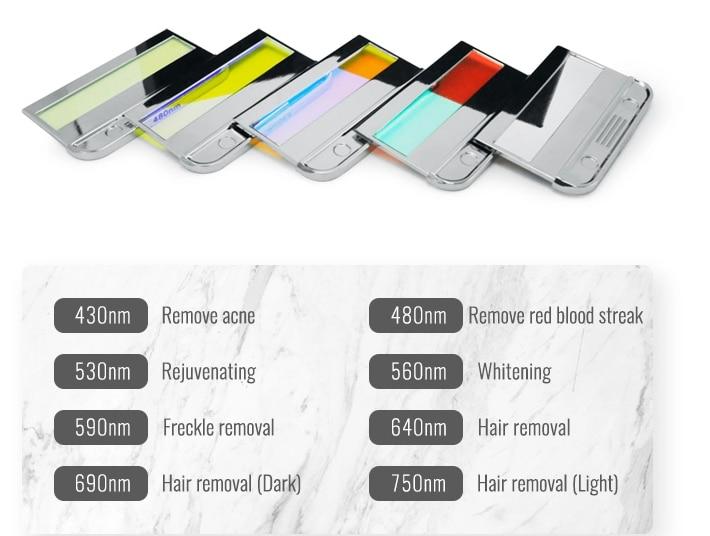 Various Types IPL Hair Removal  Handle /Laser handle / Lamp Tube /Magneto-optical Handle enlarge