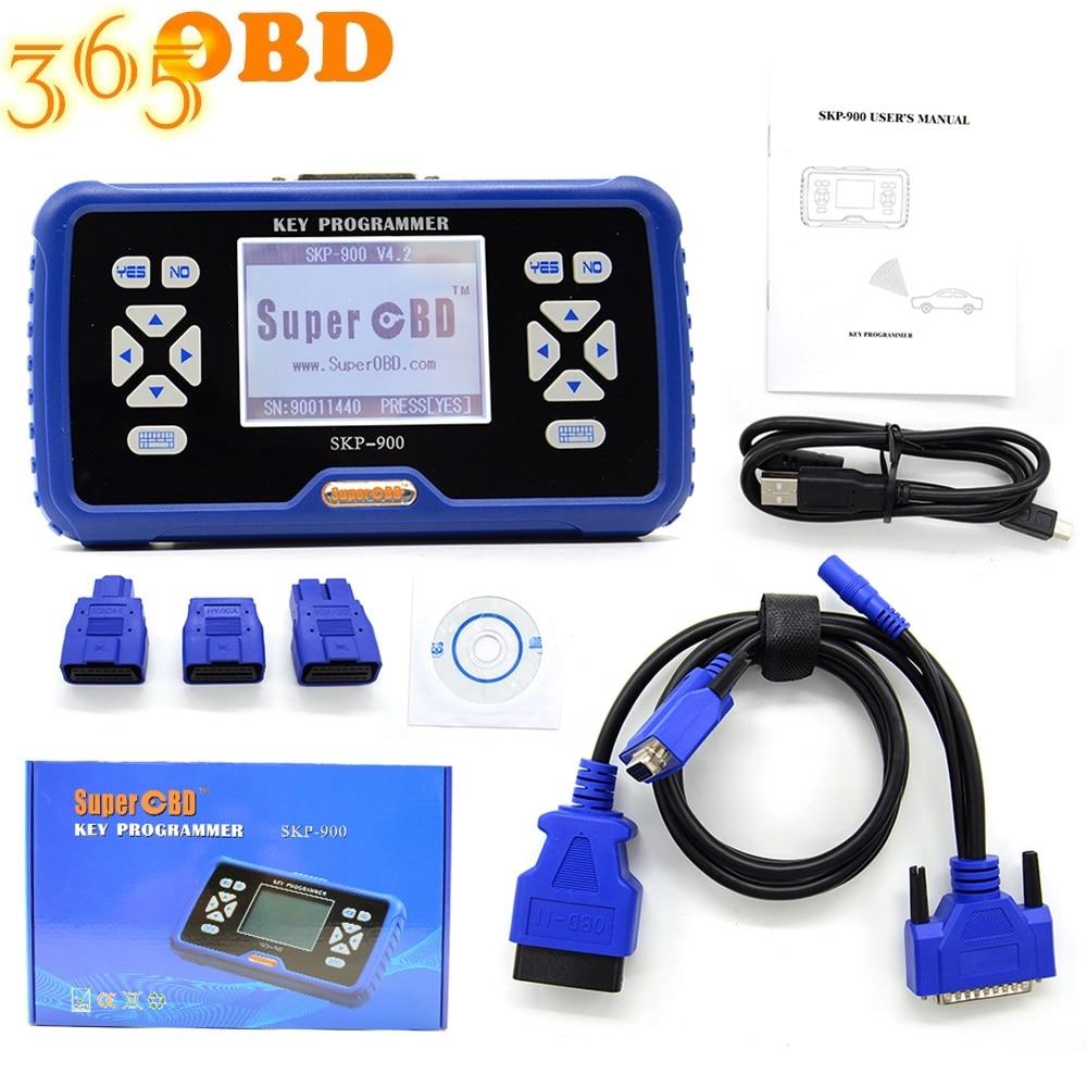 SKP-900 key programmer V5.0 Best Hand-held OBD2 key programmer Support almost Cars Update Online SKP900 Free shipping