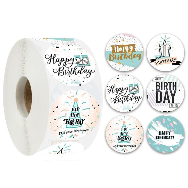 Стикеры День рождения наклейки с милыми рисунками счастливая, детское платье на день рождения, для художественного оформлен...