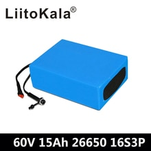 LiitoKala 60 فولت 15AH مقاوم للماء ليثيوم أيون eBike بطارية 60 فولت 1000 واط 1800 واط بطارية سكوتر كهربائي الولايات المتحدة الاتحاد الأوروبي الاتحاد الافريقي لا ضريبة