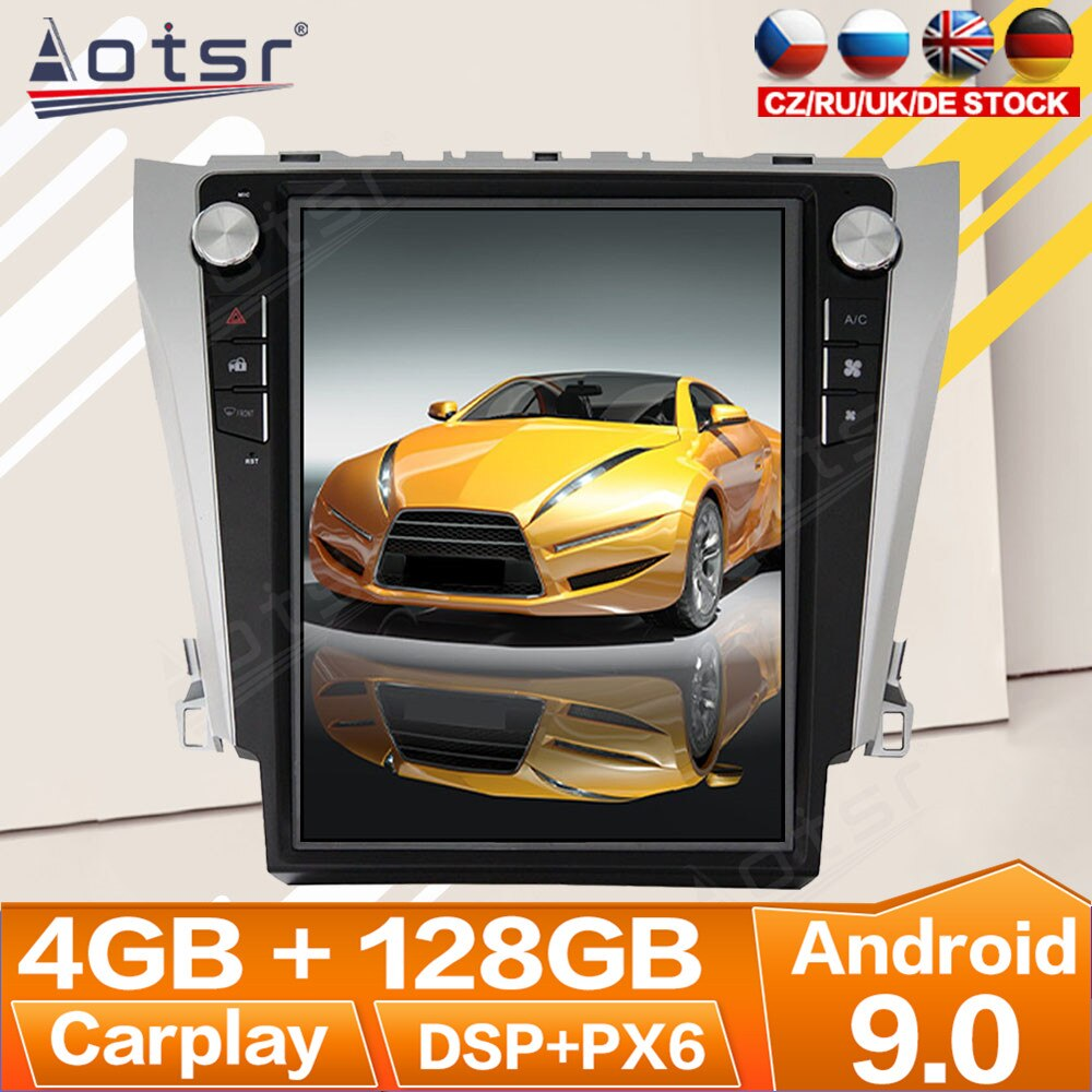 AliExpress - For Toyota Camry 2012 2013 2014 – 2016 Android Radio Multimedia Car Cassette Recorder Stereo Player Tesla PX6 GPS Navi Head Unit