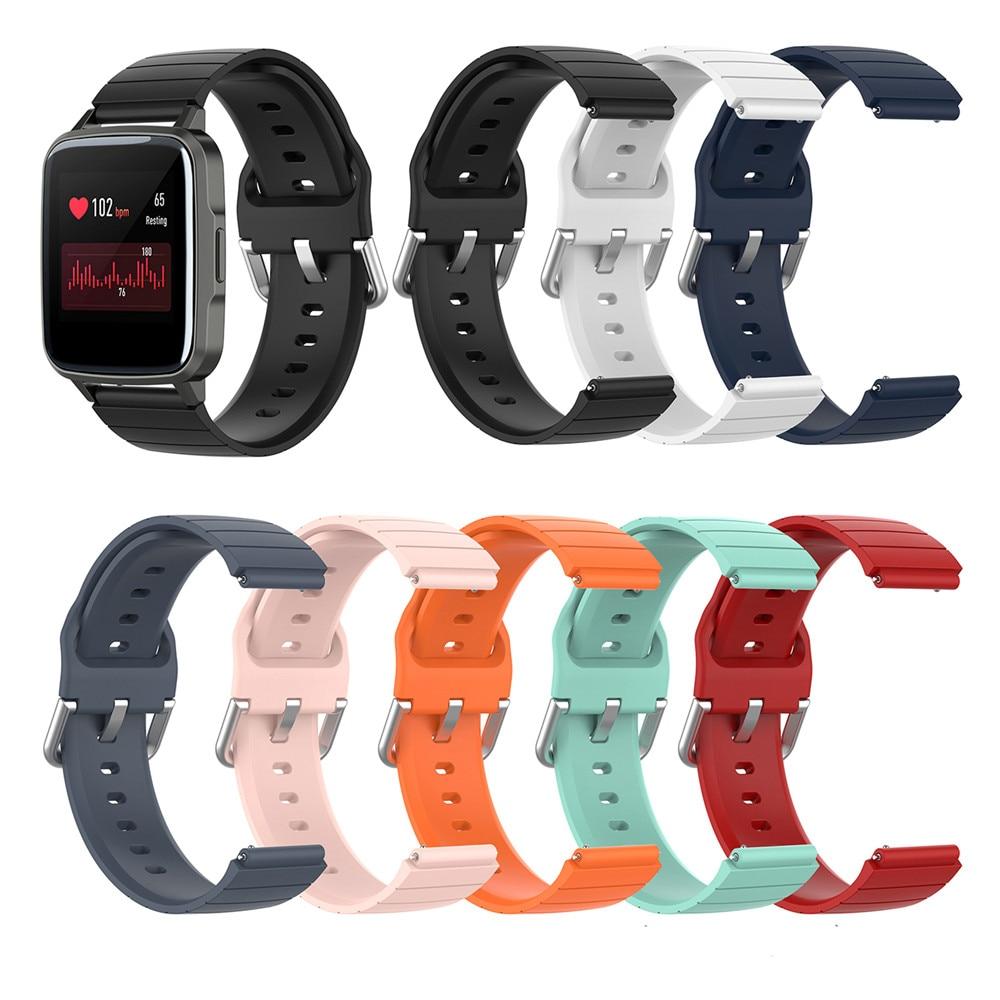 Correa de reloj de silicona de 19mm para Xiaomi haylou Solar LS02/LS01 ID205, accesorios de Smartwatch Willful IP68
