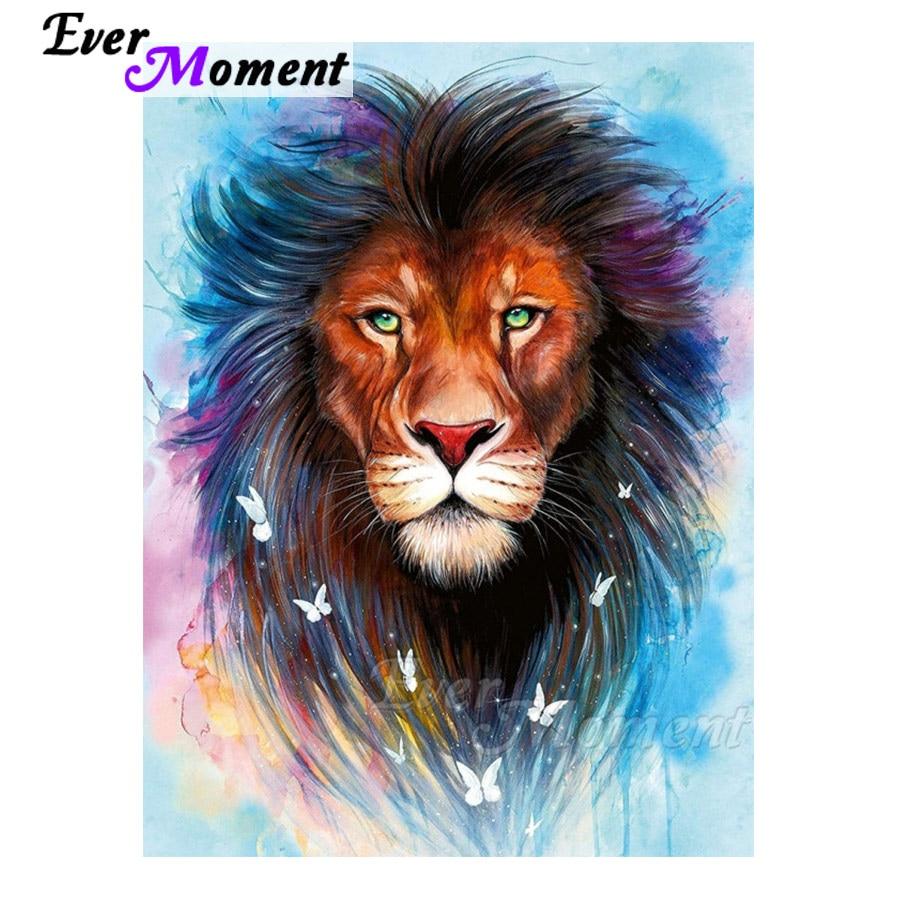 Ever Moment diamant peinture coloré Lion papillon plein carré résine forets diamant mosaïque broderie loisirs artisanat 4Y170